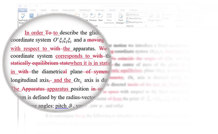 Example of proofread document